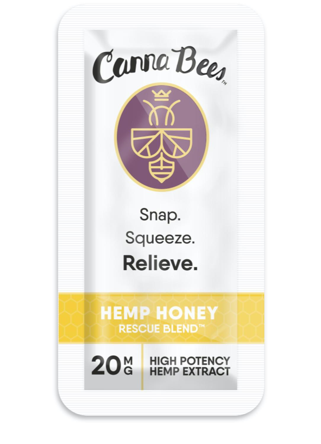 Bee Delightful CBD honey snap pack product front
